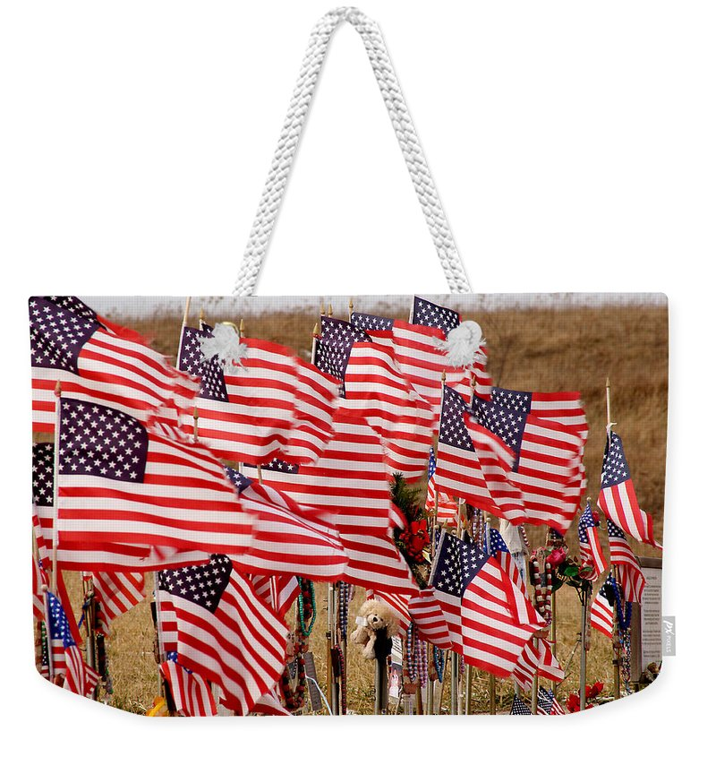 9/11 Weekender Tote Bag featuring the photograph Flight 93 by Jean Macaluso