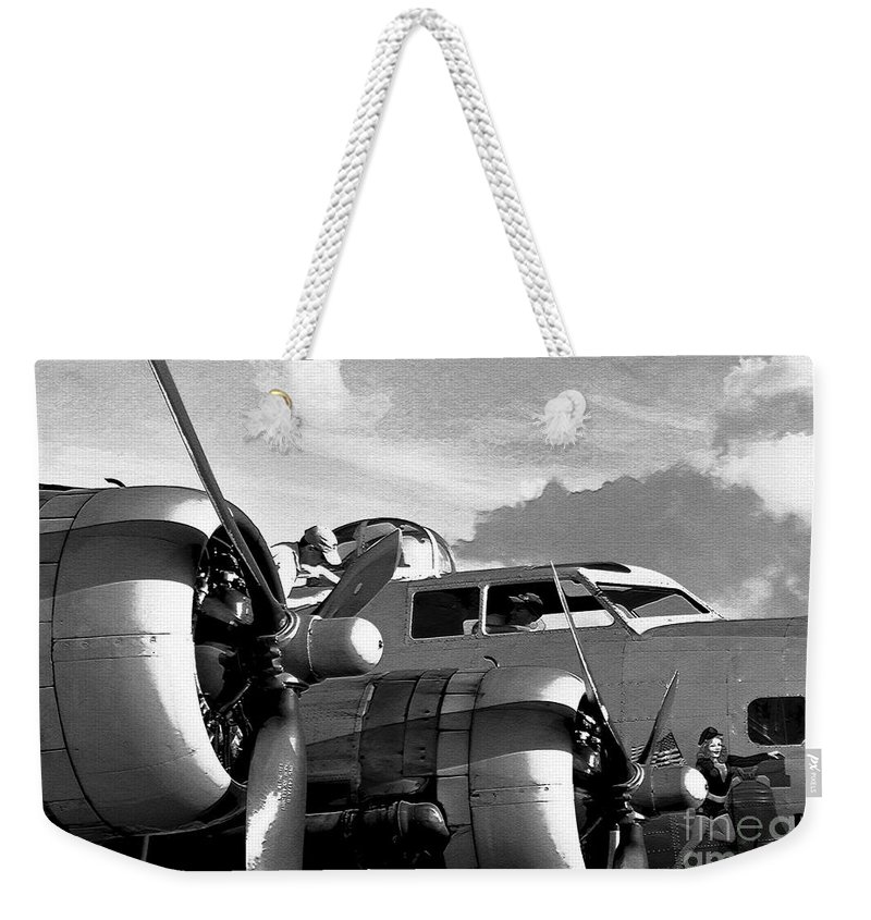 Flying Fortress Weekender Tote Bag featuring the photograph Flight Check by David Lee Thompson