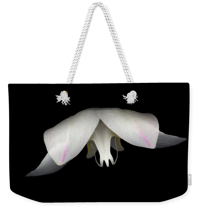 Flower Weekender Tote Bag featuring the photograph Flight by Heather Kirk