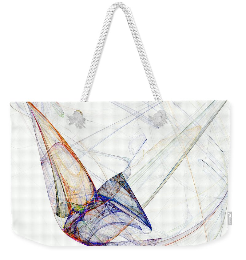Flight Weekender Tote Bag featuring the digital art Flight Of Future Days by Claire Bull