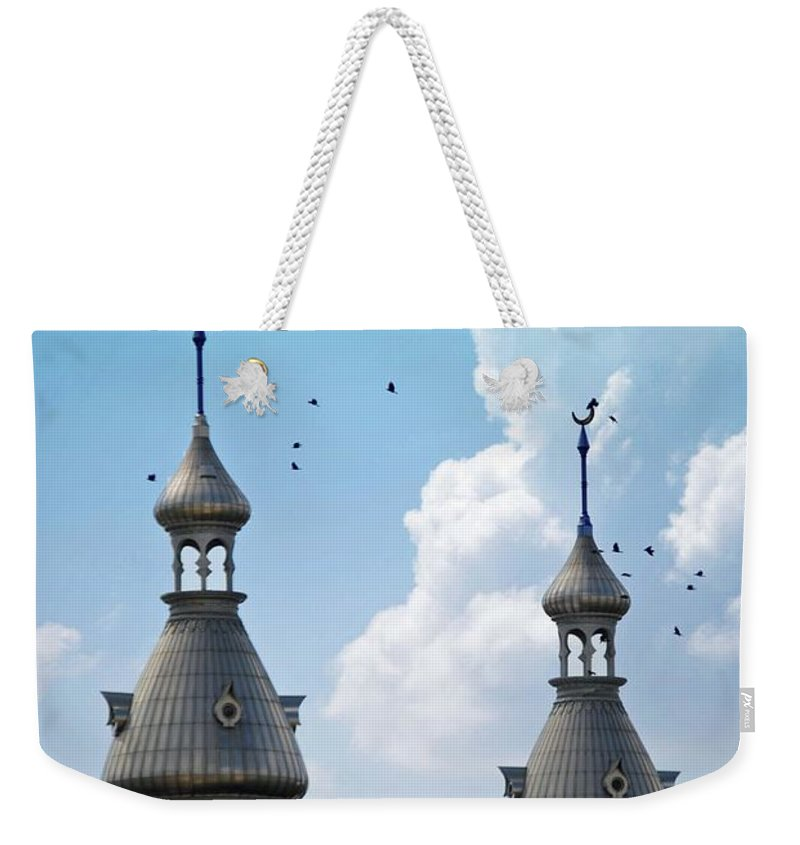 University Of Tampa Weekender Tote Bag featuring the photograph Flight Over The Crescents by Jost Houk