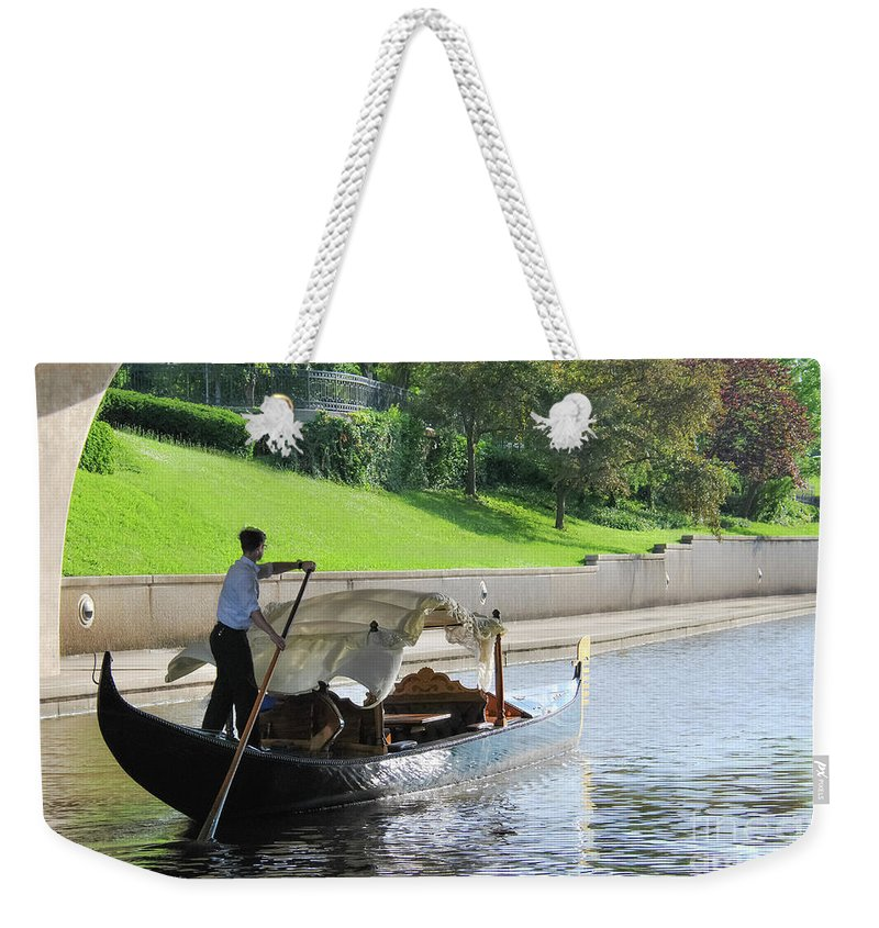Boat Weekender Tote Bag featuring the photograph Float Away by Pamela Williams