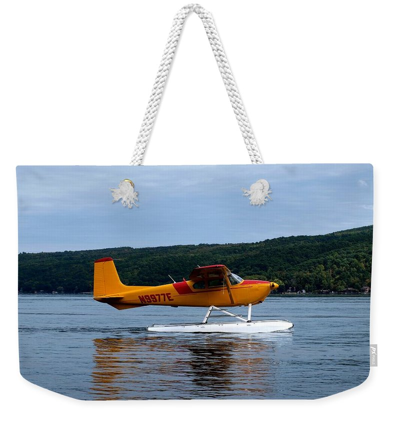 Hammondsport Weekender Tote Bag featuring the photograph Float Plane Two by Joshua House