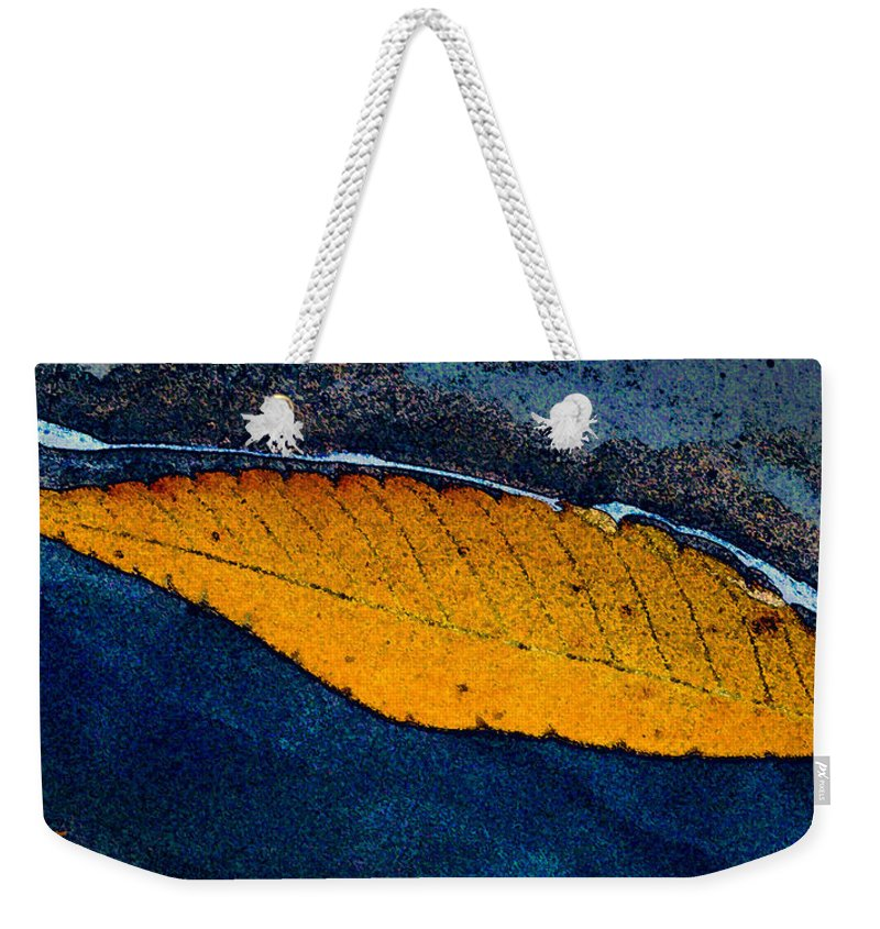 Autumn Weekender Tote Bag featuring the photograph Floating by Ed A Gage