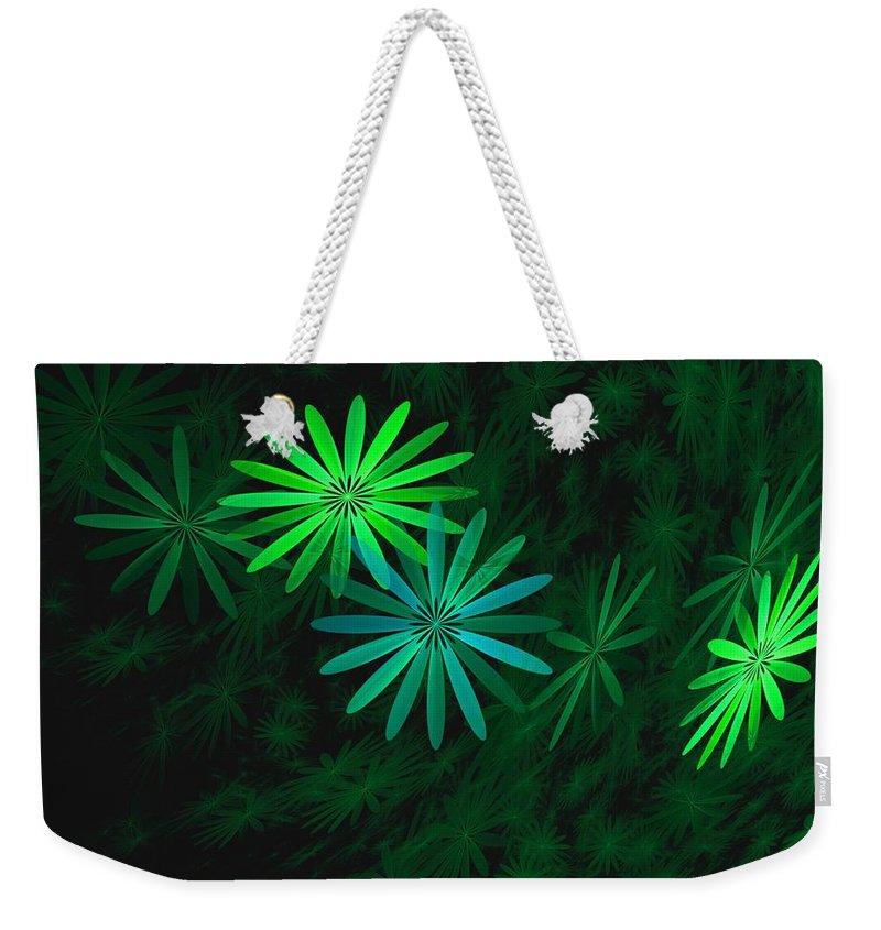 Digital Photography Weekender Tote Bag featuring the digital art Floating Floral-007 by David Lane