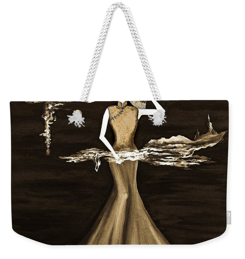 Figurative Weekender Tote Bag featuring the digital art Floating Scent by Fei A