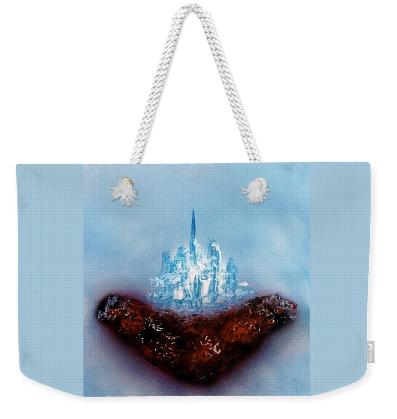 Fantasy Weekender Tote Bag featuring the painting Floating World by Nandor Molnar