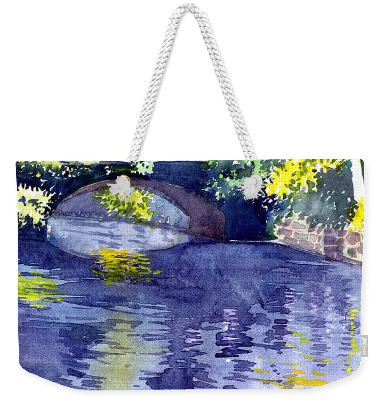 Nature Weekender Tote Bag featuring the painting Floods by Anil Nene