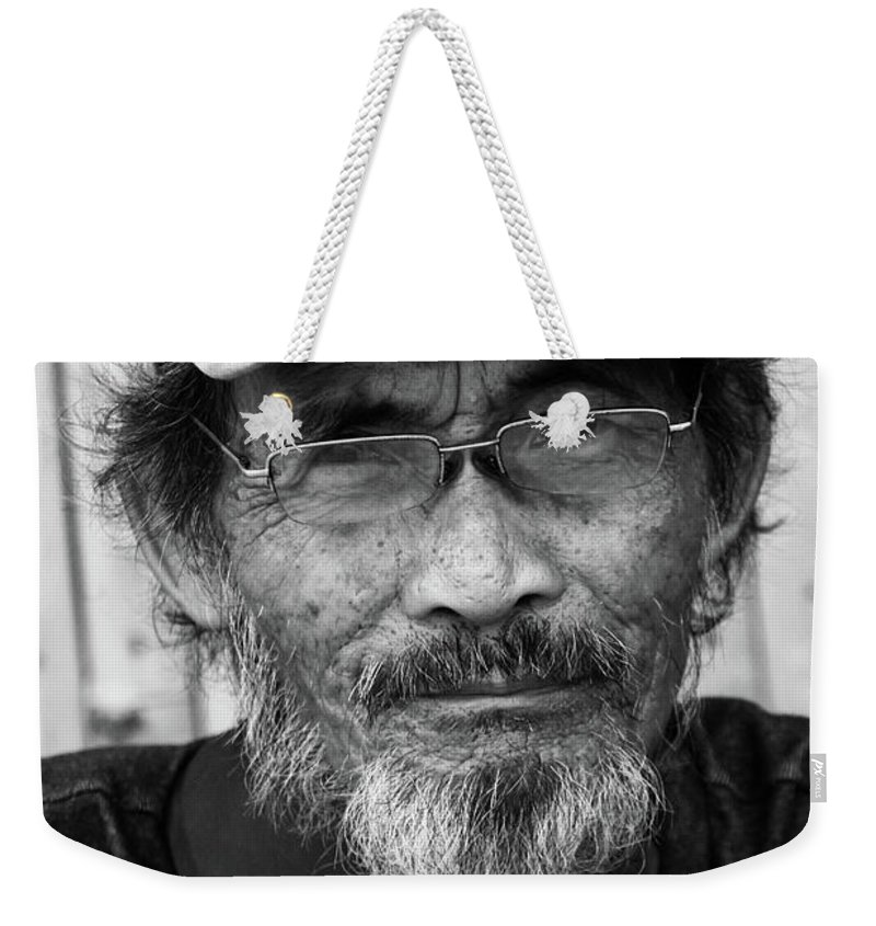 Mati Weekender Tote Bag featuring the photograph Flopog by Jez C Self