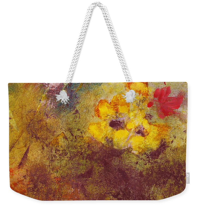 Botanical Weekender Tote Bag featuring the painting Flora II by Ruth Palmer