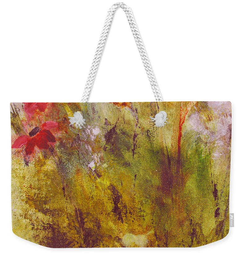 Botanical Weekender Tote Bag featuring the painting Flora by Ruth Palmer