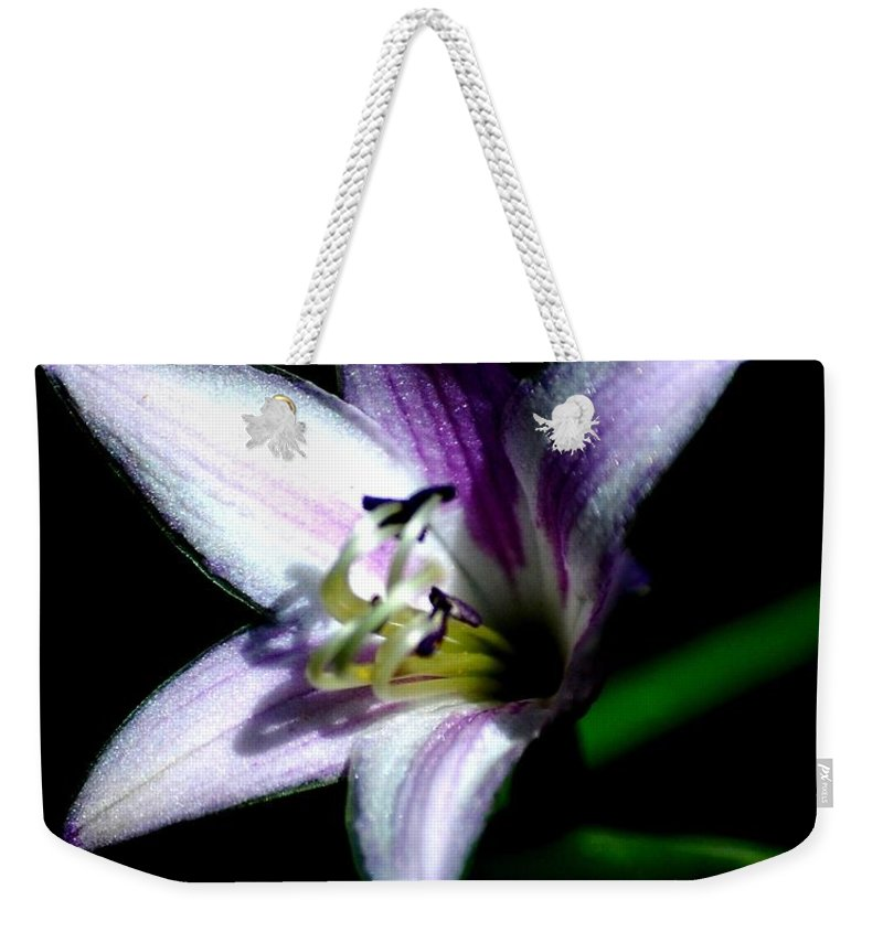 Digital Photograph Weekender Tote Bag featuring the photograph Floral 7-24-09 by David Lane