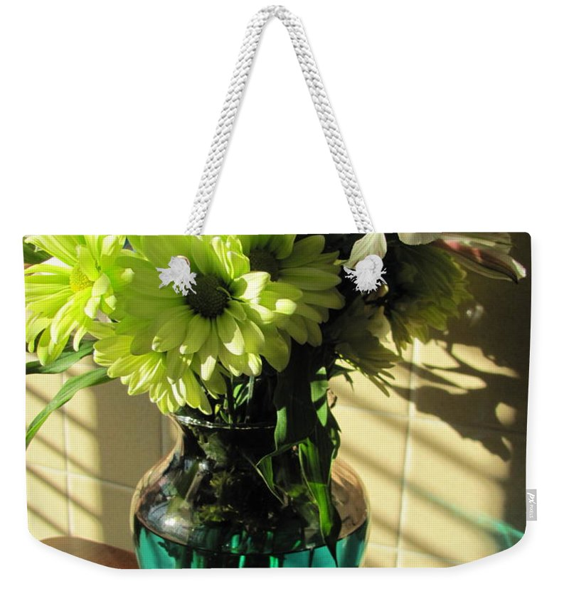 Flowers Weekender Tote Bag featuring the photograph Floral Bouquet 3 by Anita Burgermeister
