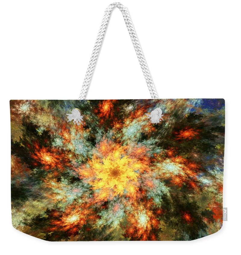 Fine Art Weekender Tote Bag featuring the digital art Floral Fantasy 072010 by David Lane