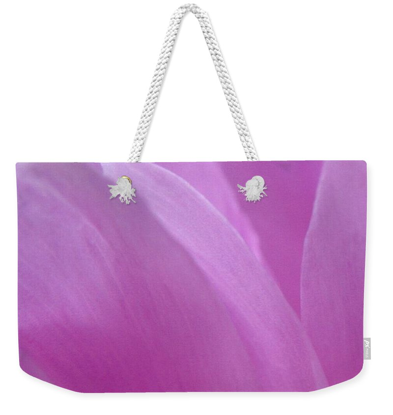 Pink Weekender Tote Bag featuring the photograph Floral Fantasy 3 by Rhonda Barrett