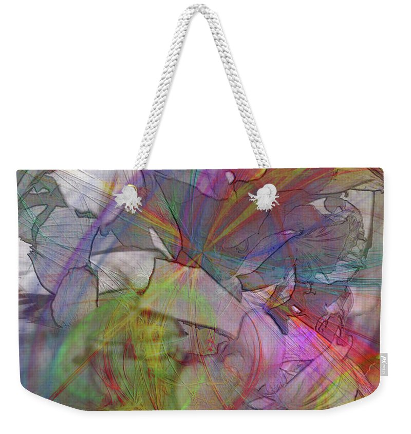Floral Fantasy Weekender Tote Bag featuring the digital art Floral Fantasy by John Beck