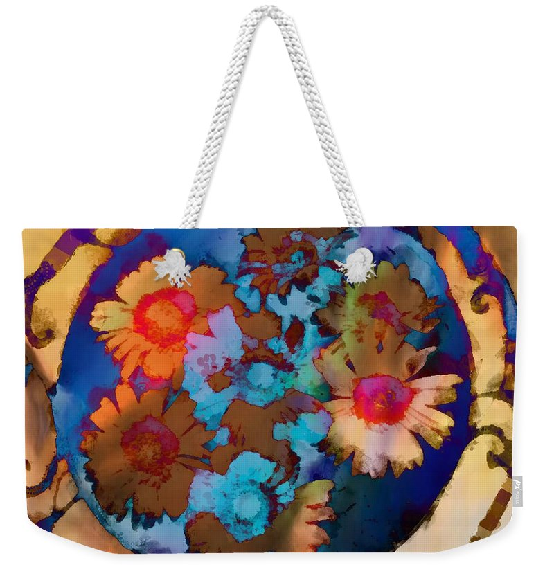 Floral Hotty Totty Differs Weekender Tote Bag featuring the photograph Floral Hotty Totty Differs by Catherine Lott
