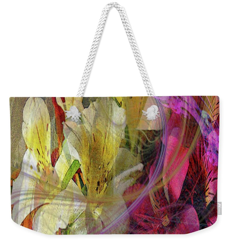 Floral Inspiration Weekender Tote Bag featuring the digital art Floral Inspiration by John Beck