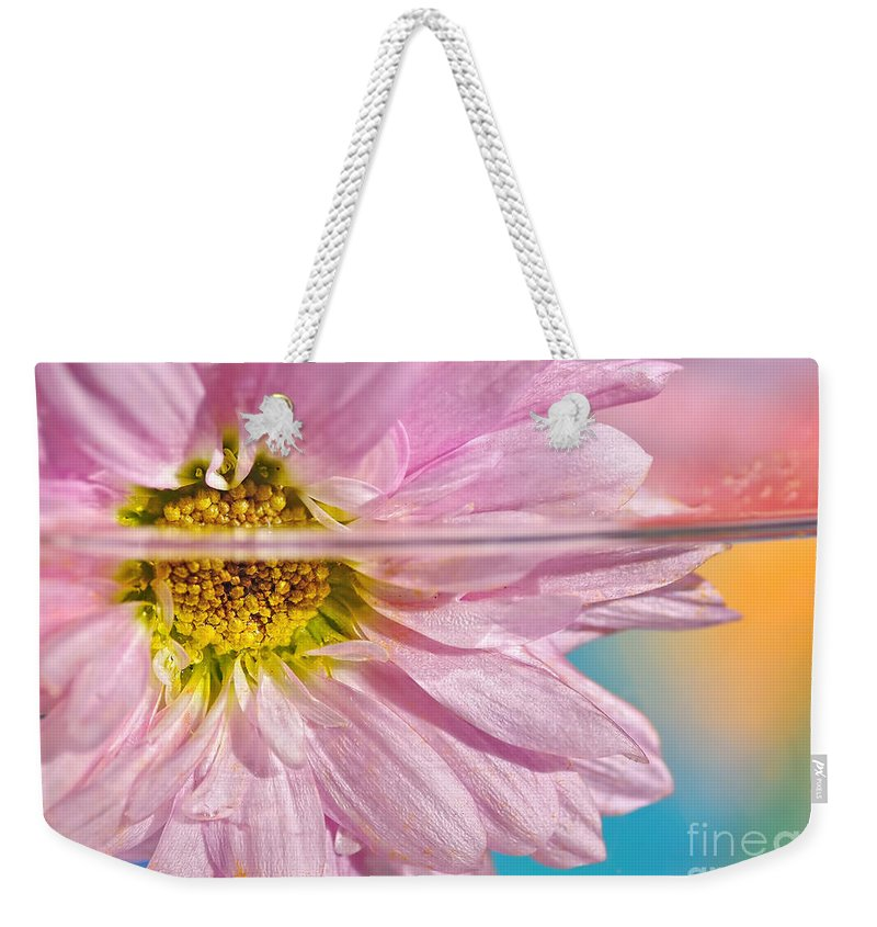 Photography Weekender Tote Bag featuring the photograph Floral 'n' Water Art 6 by Kaye Menner
