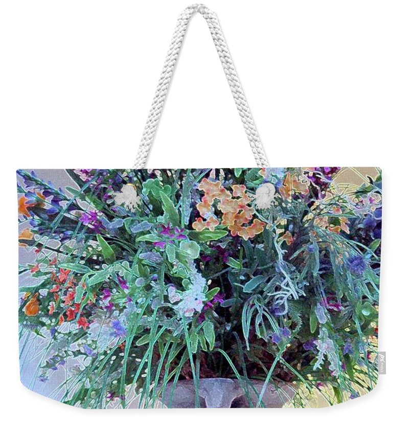 Flower Weekender Tote Bag featuring the photograph Floral Piece by Kathleen Struckle