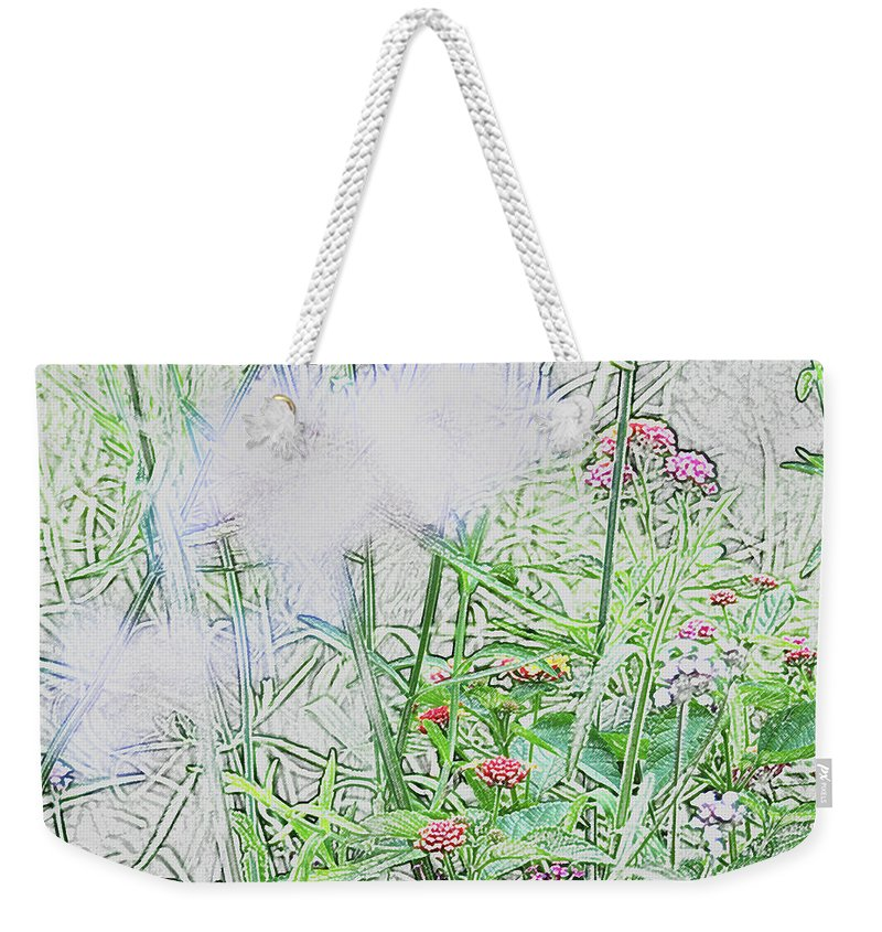 Abstract Weekender Tote Bag featuring the photograph Floral Sketch by BiR Fotos