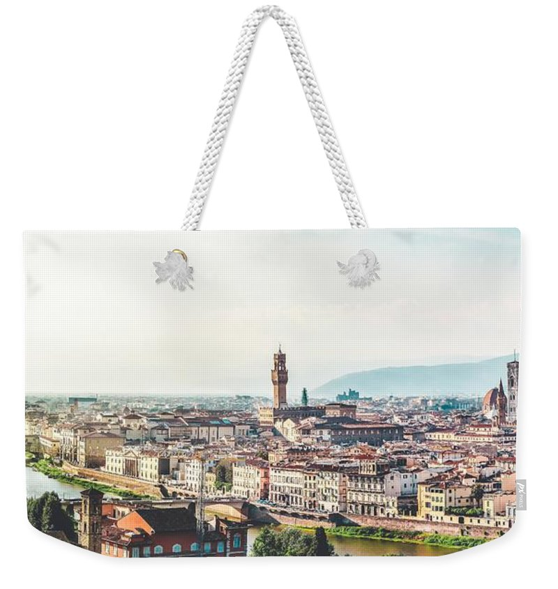 Buildings Weekender Tote Bag featuring the photograph Florence Italy by Artpics