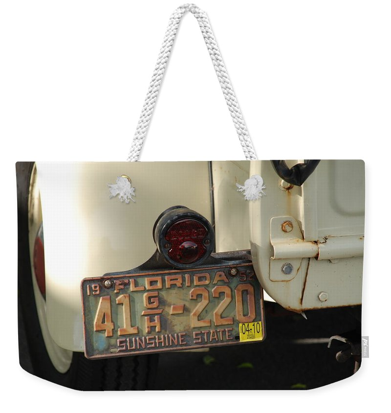 Truck Weekender Tote Bag featuring the photograph Florida Dodge by Rob Hans
