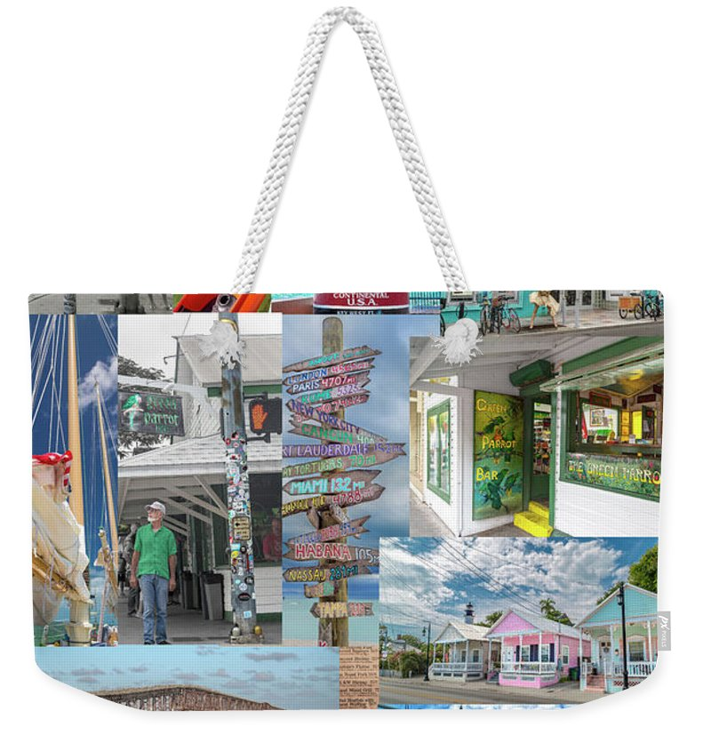 Florida Weekender Tote Bag featuring the photograph Florida Key West Collection by Betsy Knapp