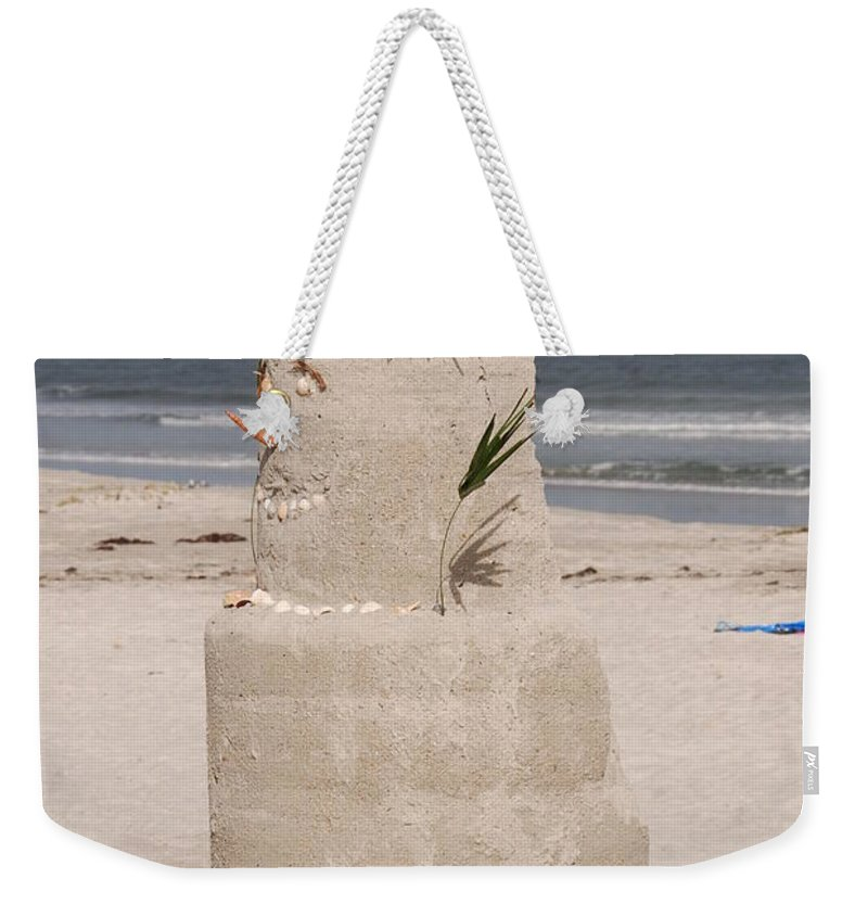 Sandman Weekender Tote Bag featuring the photograph Florida Snow Man by Susanne Van Hulst