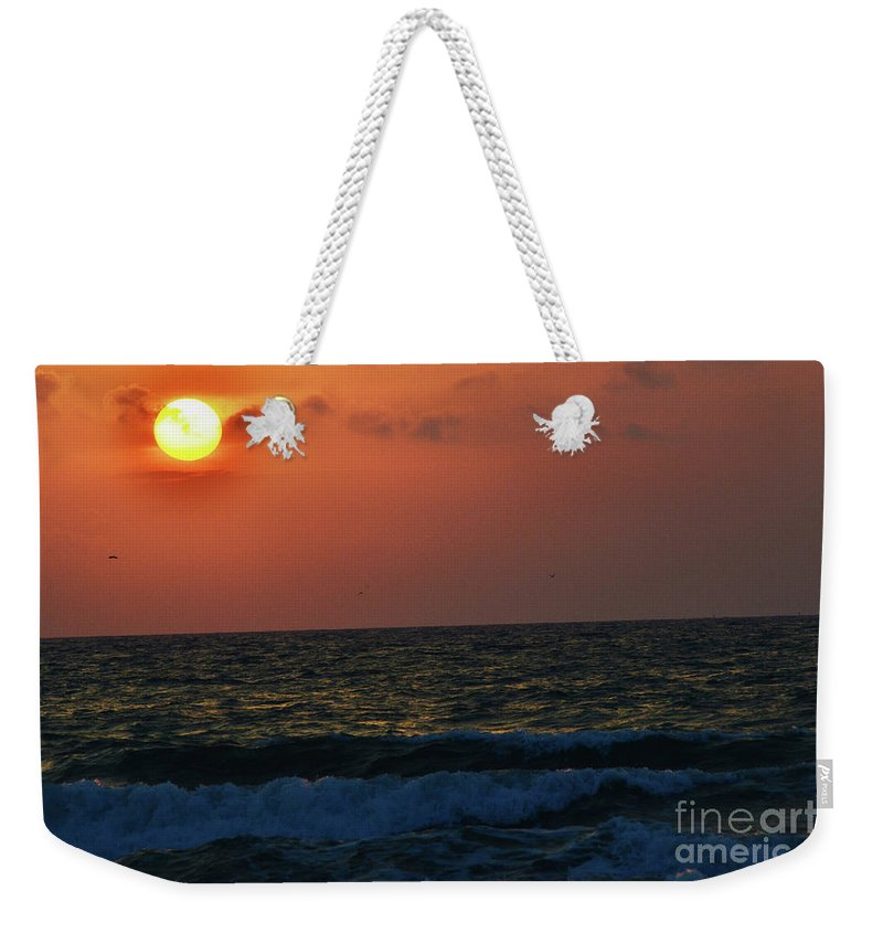 Florida Weekender Tote Bag featuring the photograph Florida Sunset 1 by Kylee S