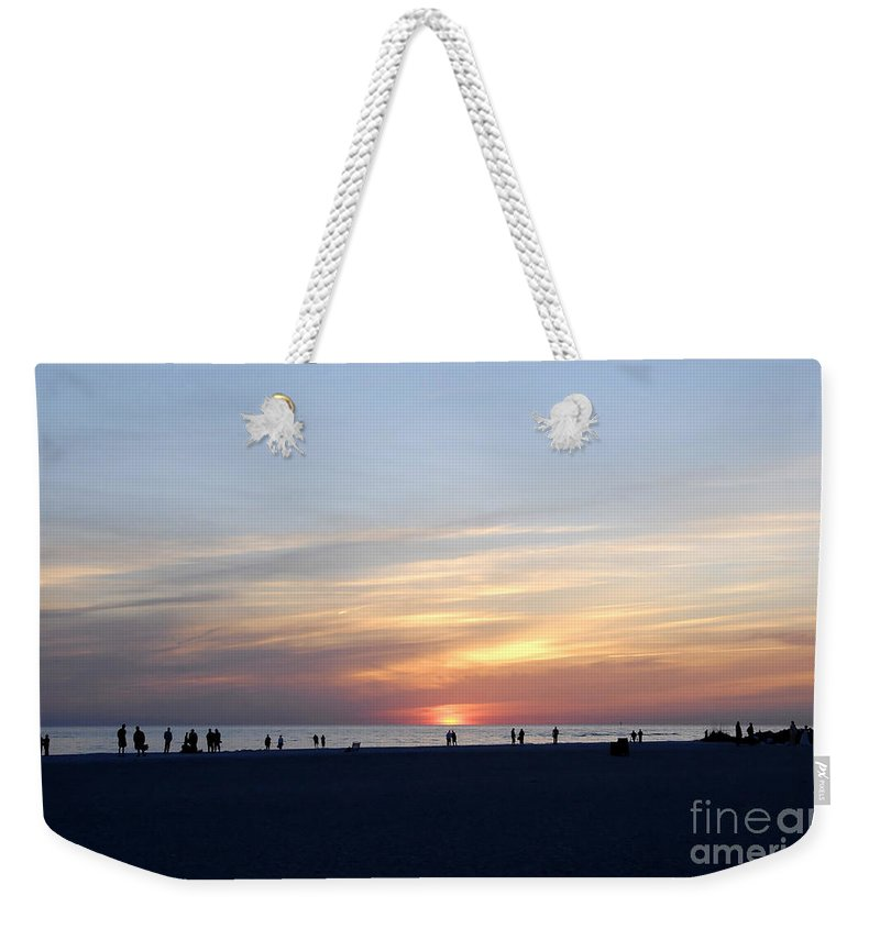Florida Weekender Tote Bag featuring the photograph Florida Sunset by David Lee Thompson