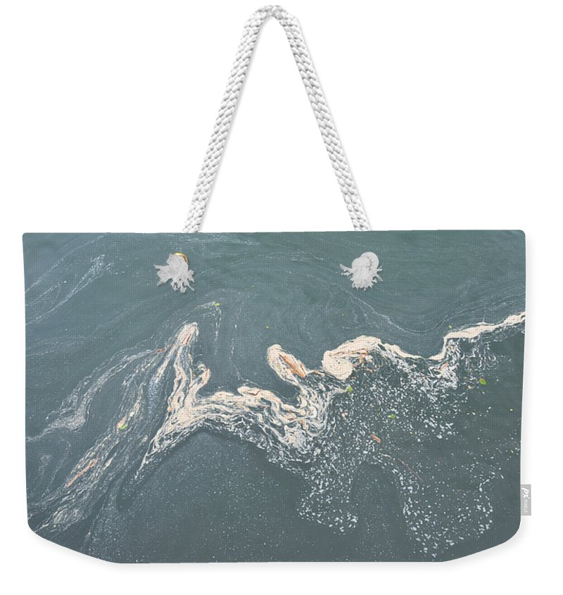 Lake Weekender Tote Bag featuring the photograph Flotsam by Rich Bodane