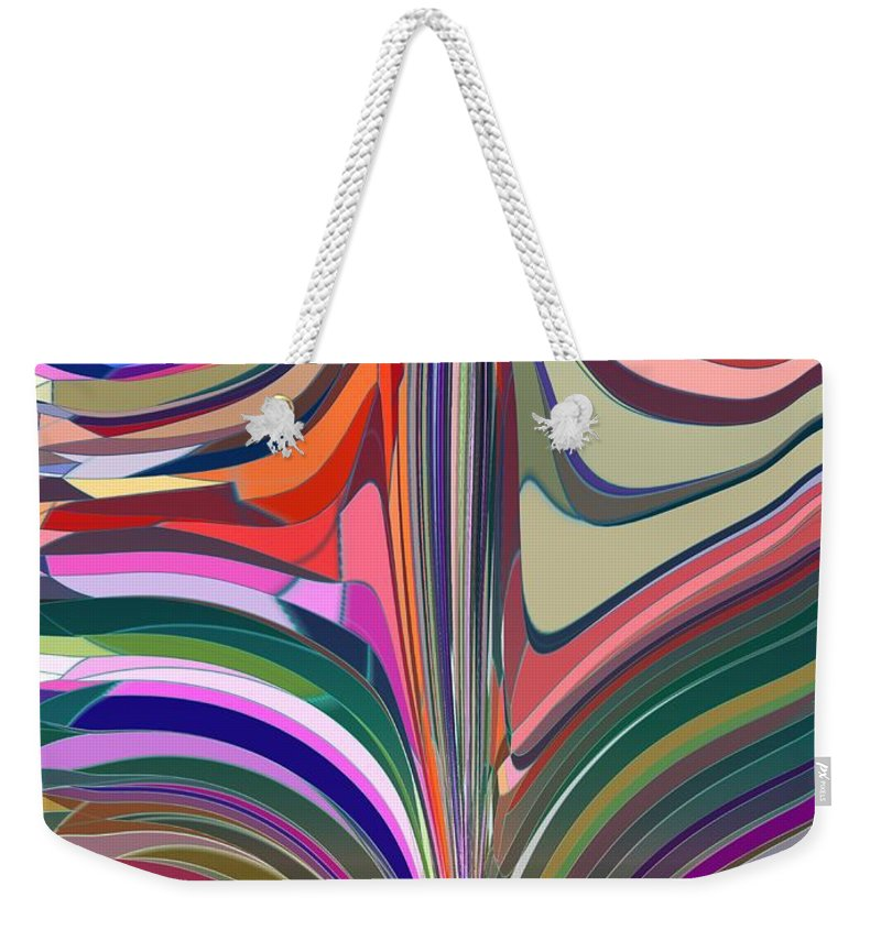 Abstract Weekender Tote Bag featuring the digital art Flourish by Tim Allen