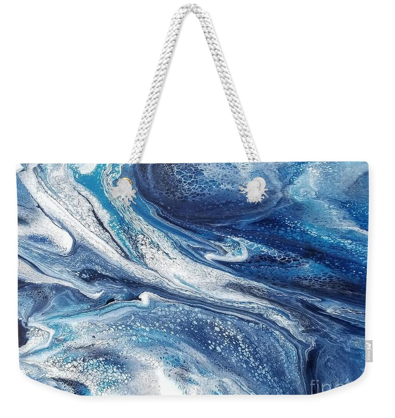 Acrylic Weekender Tote Bag featuring the painting Flow 002 by Nicole Chambers