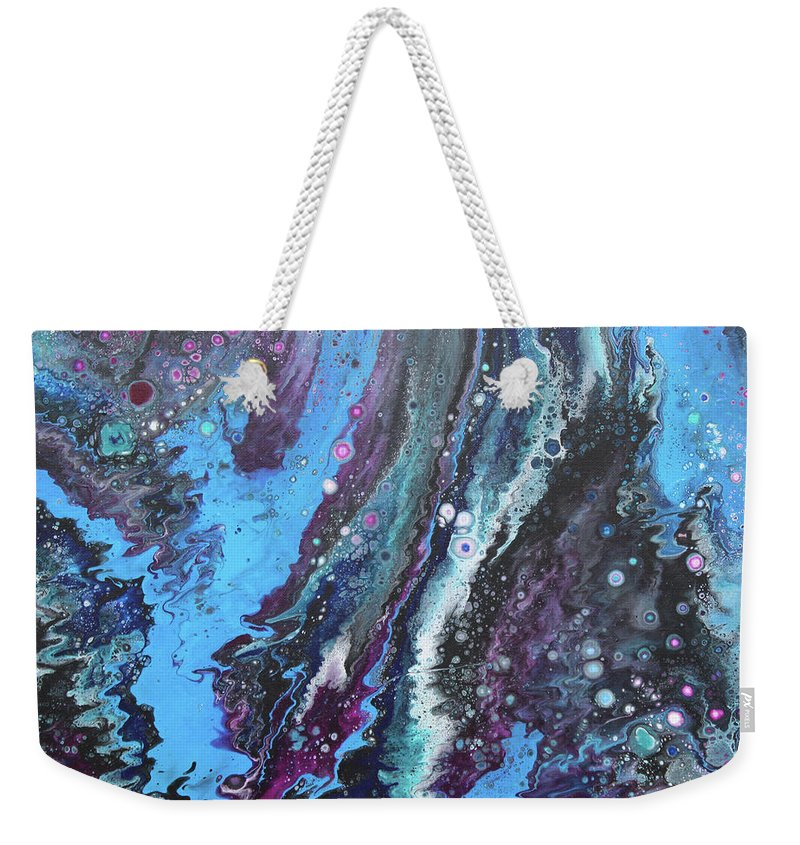 Sky Blue Weekender Tote Bag featuring the painting Flow 61 by Terry O'Donnell