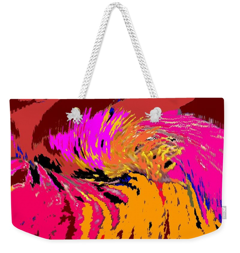 Abstract Weekender Tote Bag featuring the digital art Flow by Ian MacDonald
