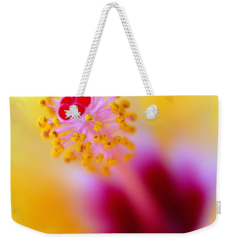 Flower Weekender Tote Bag featuring the photograph Flower - Stamen 2 by Jill Reger
