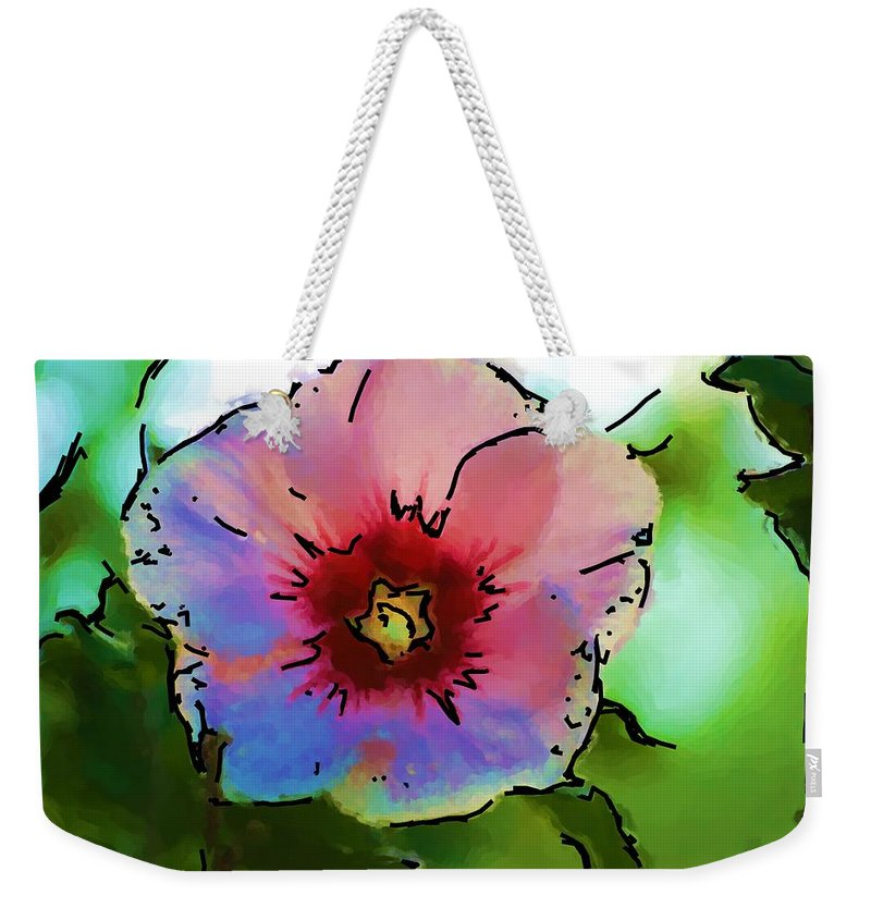 Landscape Weekender Tote Bag featuring the photograph Flower 8-15-09 by David Lane