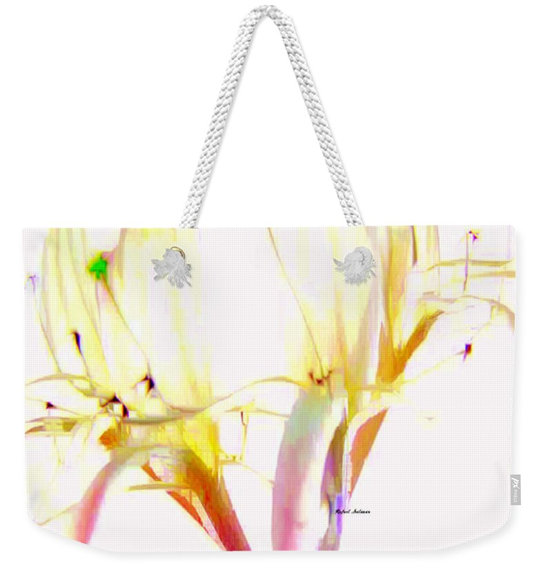 Art Weekender Tote Bag featuring the digital art Flower 9315 by Rafael Salazar