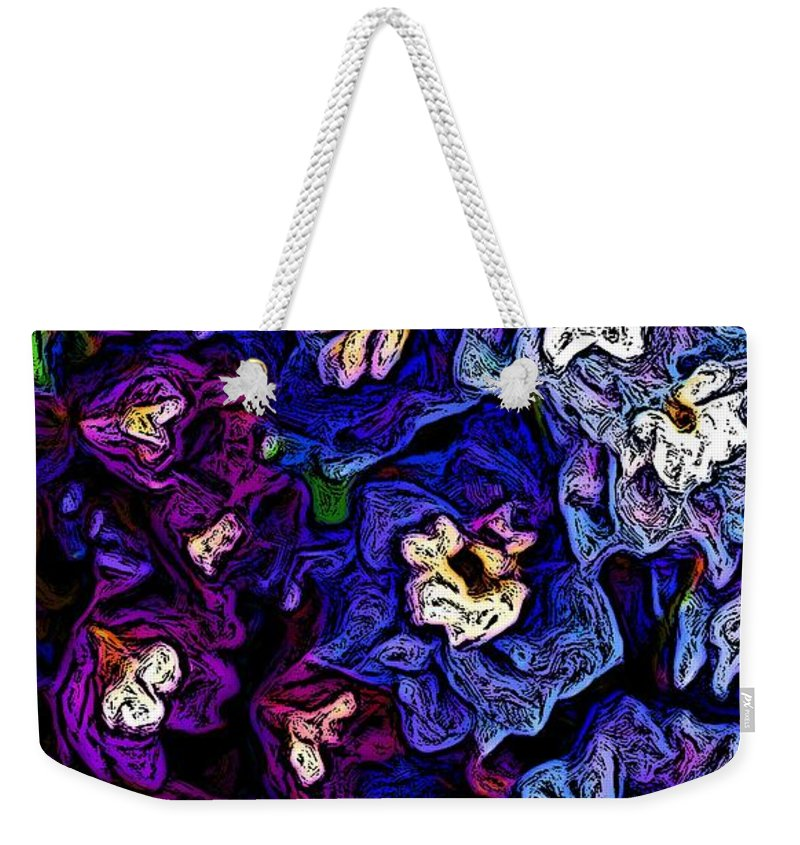Digital Photo Weekender Tote Bag featuring the photograph Flower Arrangement II by David Lane