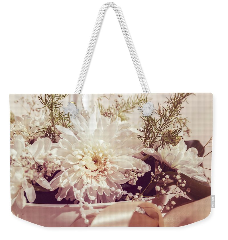 Bouquet Weekender Tote Bag featuring the photograph Flower Bouquet by Thubakabra
