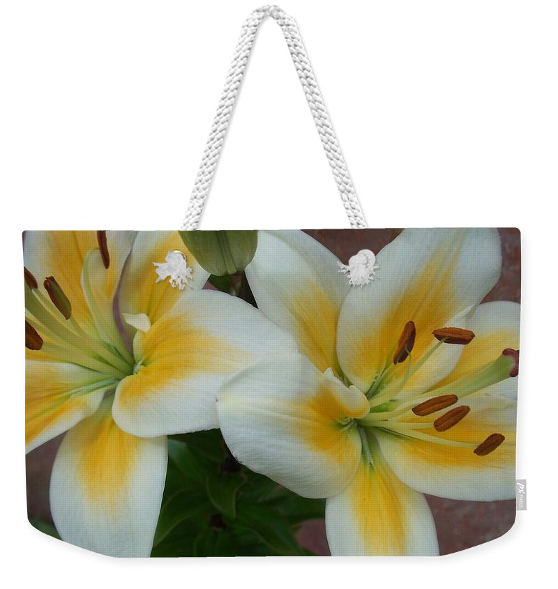 Flower Weekender Tote Bag featuring the photograph Flower Close Up 5 by Anita Burgermeister