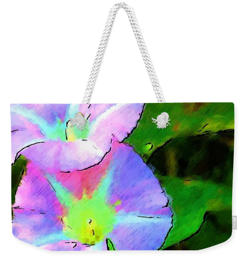 Digital Photograph Weekender Tote Bag featuring the photograph Flower Drawing by David Lane