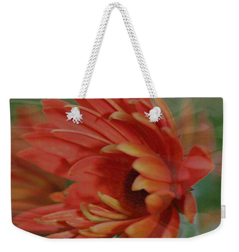 Flowers Weekender Tote Bag featuring the photograph Flower Dreams by Linda Sannuti