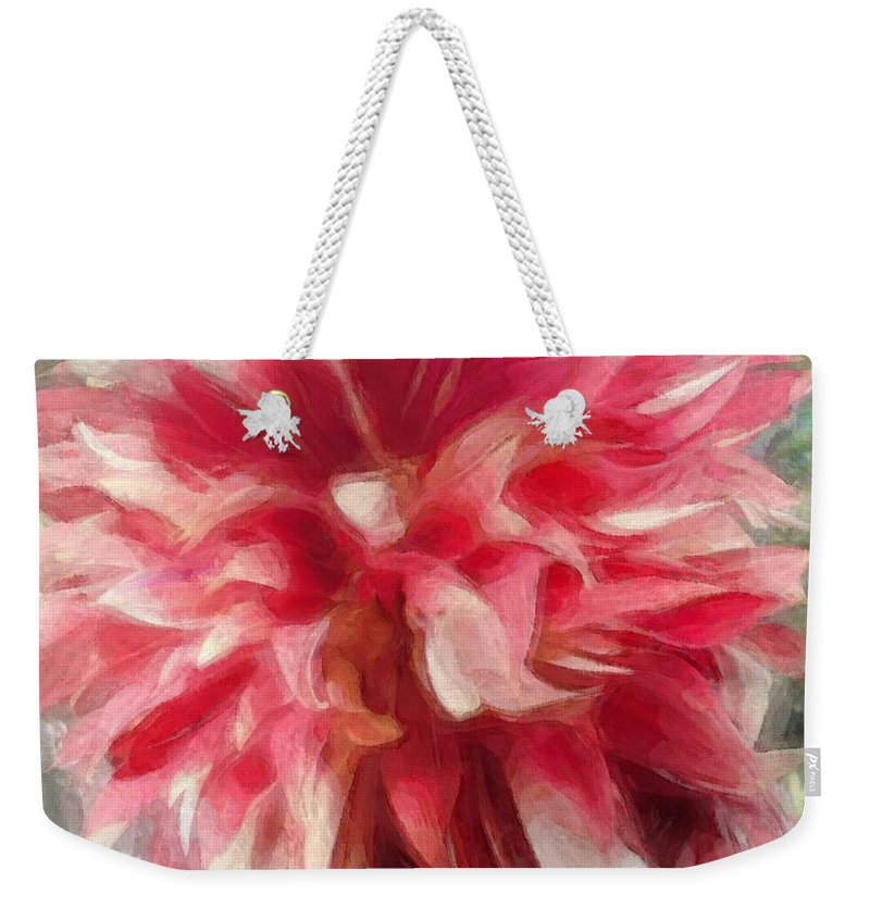 Flower Weekender Tote Bag featuring the digital art Flower by Evon Kurtz