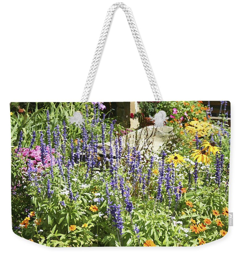Flower Weekender Tote Bag featuring the photograph Flower Garden by Margie Wildblood