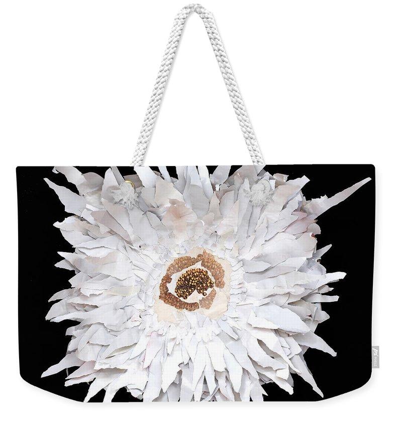 Flower Weekender Tote Bag featuring the mixed media Flower by Jaime Becker