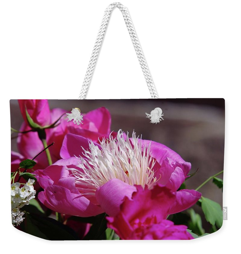 Flowers Weekender Tote Bag featuring the photograph Flower by Jeff Swan