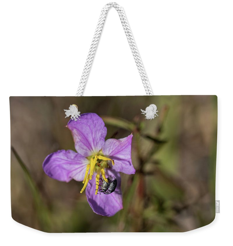 Wildflower Weekender Tote Bag featuring the photograph Flower Love by Lisa Malecki