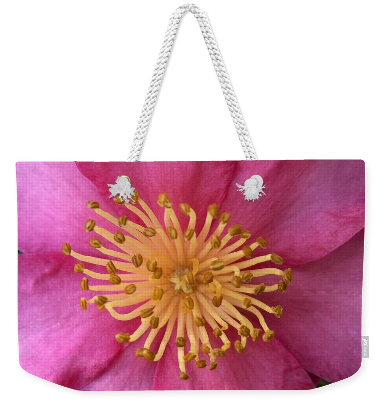 Flowers Weekender Tote Bag featuring the photograph Flower Macro by Amy Fose